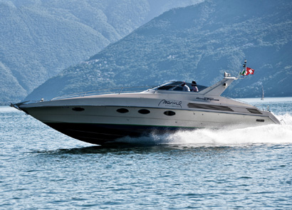 ... beautiful inlets on board the elegant luxury yacht Riva Tropicana 43, ...